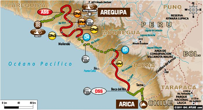 Arica, Tacna y Arequipa para mochilear